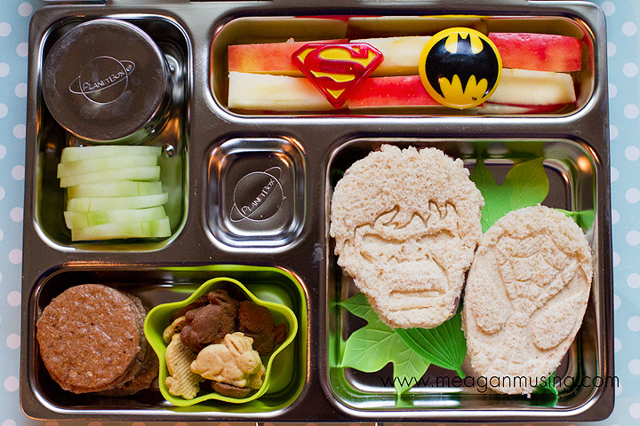 Colorful Superhero Bento packed in a PlanetBox
