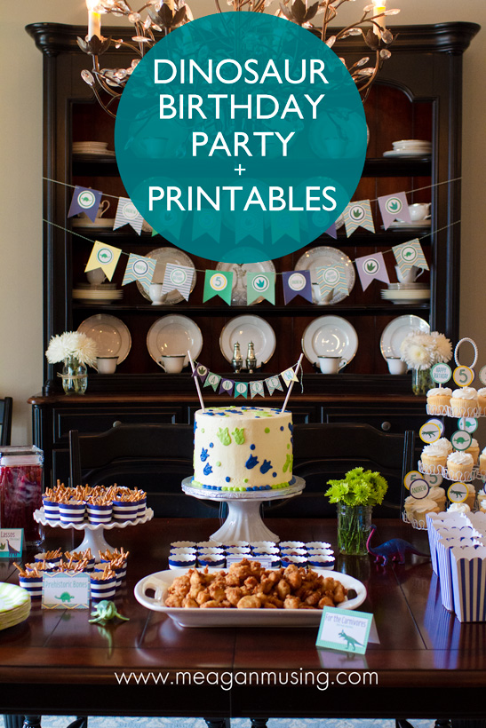 Dinosaur Party + Free Printables // MeaganMusing