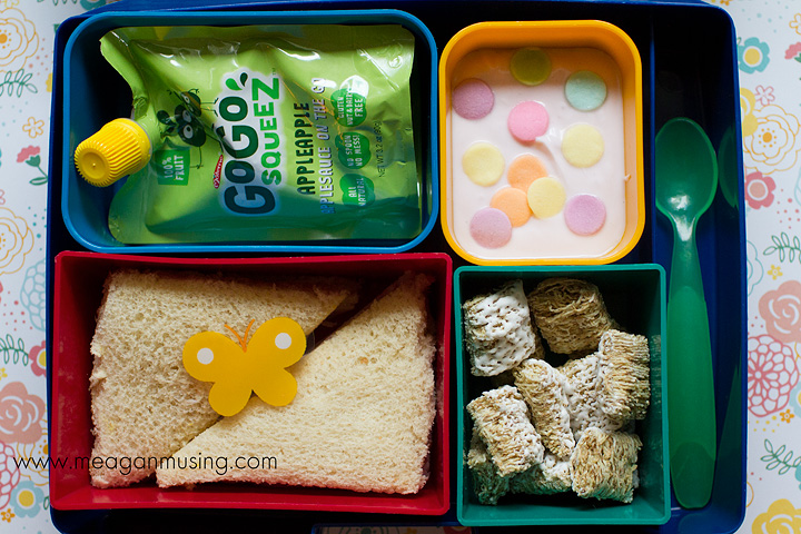 Simple Bento Lunches // #LaptopLunches Spring Sandwich