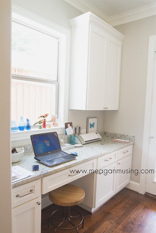 Off the Kitchen Desk Nook