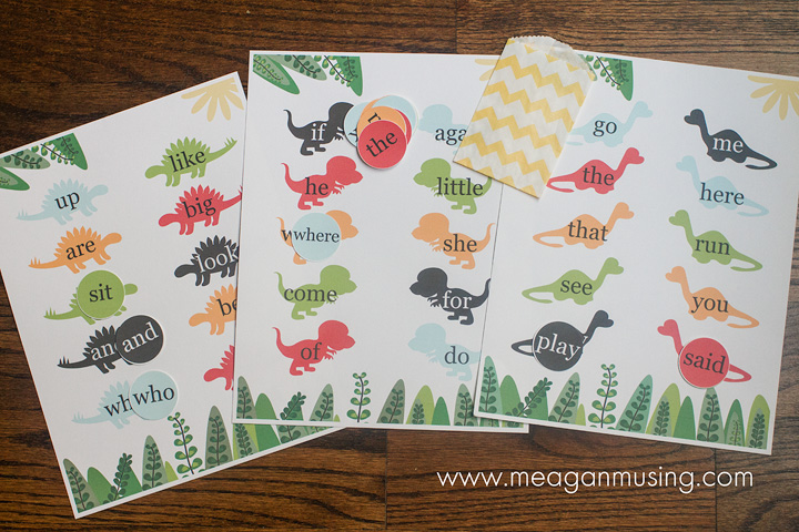 Kindergarten Sight Words Printable // Meagan Musing